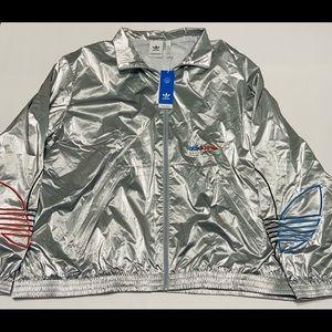 Adidas Full Zip Jacket Silver Sweater NEW